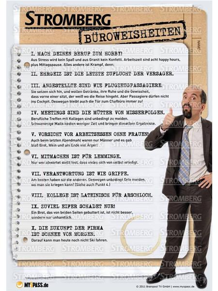 Poster: Stromberg – Büroweisheiten